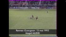 15/05/93 : Majid Musisi (54') : Rennes - Gueugnon (4-2)