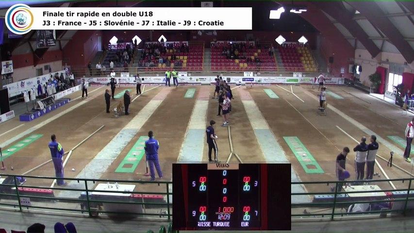 Finale tir rapide en double U18, Euro Jeunes, Saint-Vulbas 2018