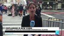 Explosions à NEW YORK : 29 blessés dans l'explosion d'une bombe dans le quartier de Chelsea