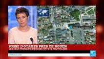 Prise d'otages dans une église : Le prêtre égorgé, une femme gravement blessée