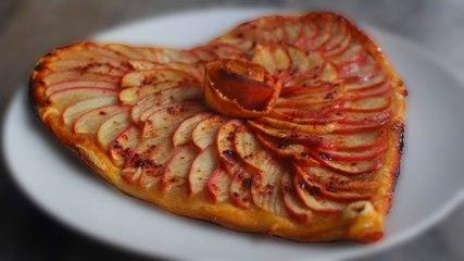 Recette de Tarte aux Pommes Spécial Saint Valentin !