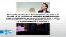 Emmanuel Macron face aux journalistes de la presse présidentielle