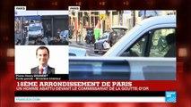 """""""Il est beaucoup trop tôt pour parler d'acte terroriste ou d'attentat"""" - Homme abattu à Barbes"""