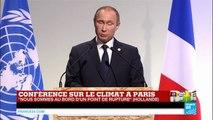 REPLAY - Discours du président russe Vladimir Poutine lors de la COP21 à Paris