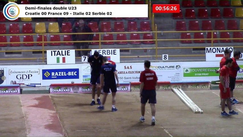 Demi-finales double U23, Euro Jeunes, Saint-Vulbas 2018