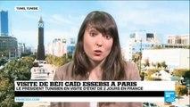 FRANCE - Béji Caïd Essebsi à Paris 3 semaines après l'attaque du musée du Bardo