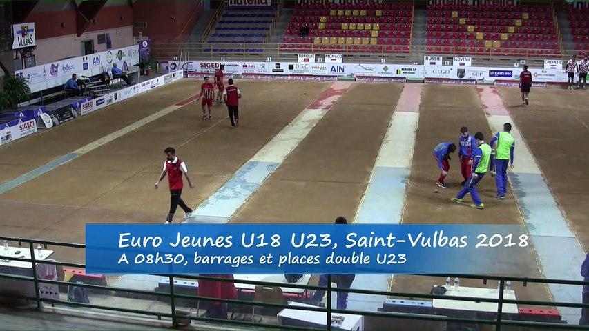 Barrages double U23, Euro Jeunes, Saint-Vulbas 2018