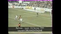 24/02/91 : Laurent Delamontagne (42') : Rennes - Lyon (2-0)