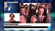 """L'ancien président malgache Marc Ravalomana """"mis en sécurité"""" dès son arrivée à Madagascar"""