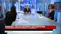 """Vote de confiance à l'Assemblée : """"Pas d'austérité"""" a martelé Manuel Valls"""