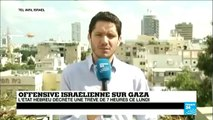 """Gaza : trêve de 7 h décrétée par Israël, """"pas un premier pas vers la paix"""""""