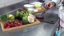 Recette de figues et fraises poêlées sur sa tarte sablée