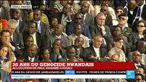 """Rwanda : """"L'histoire indique que les causes fondamentales du génocide dépassaient ce pays"""", Kagamé"""