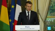 """Emmanuel Macron on Libya: """"The trade of human beings is a crime against humanity"""""""