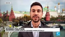 Russia: Opposition leader and Putin critic Alexei Navalny detained in Moscow