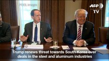 Trump renews trade threats against S.Korea