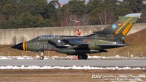 Panavia Tornado ECR ASSTA-3.1  German Air Force 98+79 - takeoff with two GBU-54  at Manching Air Base [2160p25]