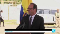 Colombia: France's president François Hollande meets with FARC rebels