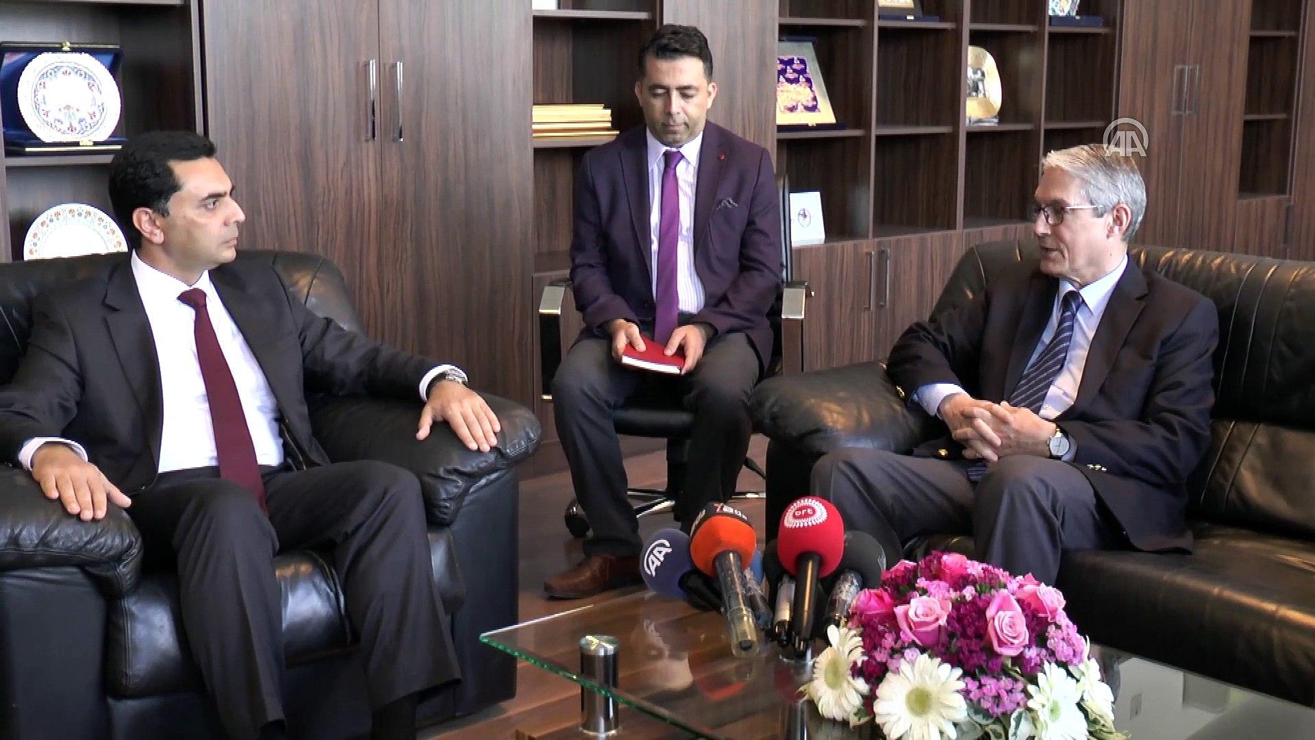 KKTC Ekonomi ve Enerji Bakanı Nami, Büyükelçi Kanbay'ı kabul etti - LEFKOŞA