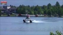 Un hydravion rate complètement son décollage et se crashe (vidéo)