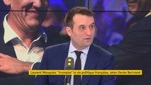 """Propos de Laurent Wauquiez : """"Il y a une forme de vulgarité et de cynisme chez Laurent Wauquiez, qui admet qu'il raconte n'importe quoi aux Français (...) Il y a un gros bobard régulièrement chez lui"""", réagit Florian Philippot #8h30politique"""