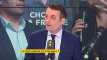 """Florian Philippot reproche """"le manque de sincérité"""" du Front national. """"Les vieux partis, et je ne parle pas que du Front national, n'incarnent pas l'avenir. Je partage une chose avec Emmanuel Macron, c'est qu'il a fait exploser le clivage gauche-droite"""""""