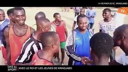 Le PAN Guillaume SORO au sport avec le Roi et les jeunes de Krindjabo
