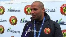 Eric Chelle l'entraîneur du FC Martigues avec le derby de l'Etang