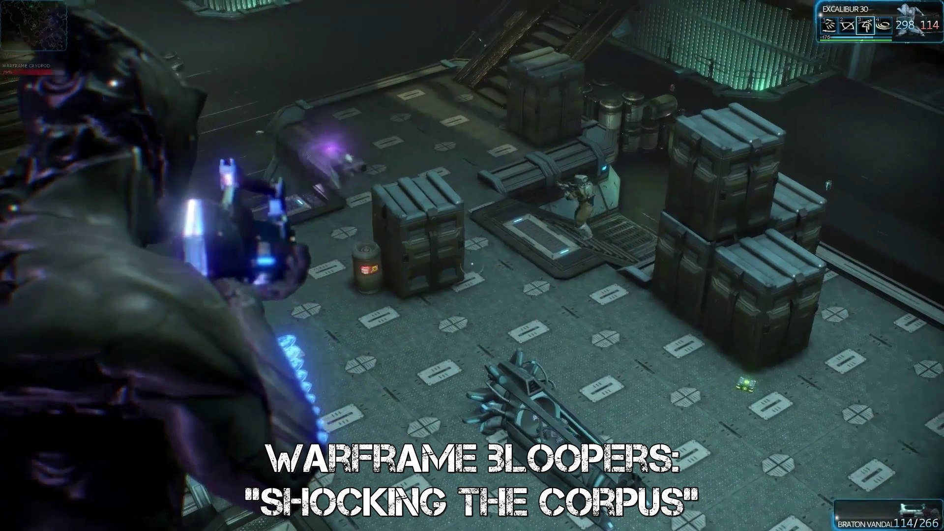 Warframe Bloopers - How to shock a Corpus (archive closed beta footage)