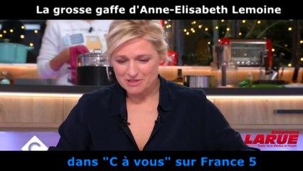 """La grosse gaffe d'Anne-Elisabeth Lemoine face à Nicolas Sarkozy dans """"C à vous"""""""