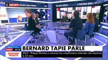 """Bernard Tapie s'exprime pour la première fois sur sa maladie : """"Ça suit son cours avec ses bons et ses moins bons moments"""""""