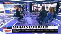 """Bernard Tapie s'exprime pour la première fois sur sa maladie : """"Ça suit son cours avec ses bons et ses moins bons moment"""