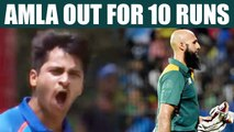India vs South Africa 6th ODI: Hashim Amla dismissed for 10 runs, Thakur strikes for India |Oneindia