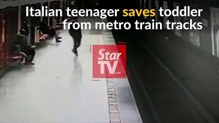 Milan : un adolescent sauve un enfant des rails du métro