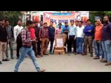 Hindu Jagran Manch workers blown the effigy of terrorism in Almora