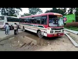 A UP roadways bus crushed a woman in Haridwar