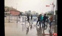 Çağlayan'daki İstanbul Adalet Sarayı önünde bıçaklı sopalı kavga