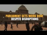 Parliament gets work done despite disruptions