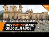 "Toys and plushies ""protest"" against sexual abuse of children in Colombia"
