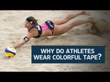 Rio Olympics: Why do athletes wear colorful tape?