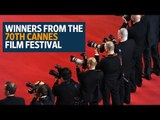 Winners from the 70th Cannes Film Festival