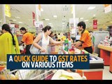 A quick guide to GST rates on various items