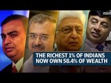 The richest 1% of Indians now own 58.4% of wealth