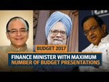 Budget 2017   Which finance minister has tabled the maximum number of budgets?