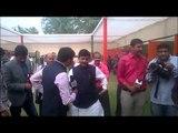 Shanwaz Hussain speaking to media on Bihar election results