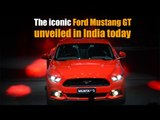 The iconic Ford Mustang GT unveiled in India today