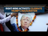 Indian supporters celebrate ahead of Donald Trump's inauguration