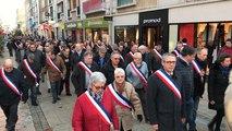150 élus augerons manifestent contre la fermeture du tribunal de Lisieux