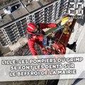 Lille: Les pompiers du Grimp se font les dents sur le beffroi de la mairie