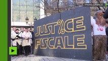 Paris : manifestations altermondialistes en soutien à Attac